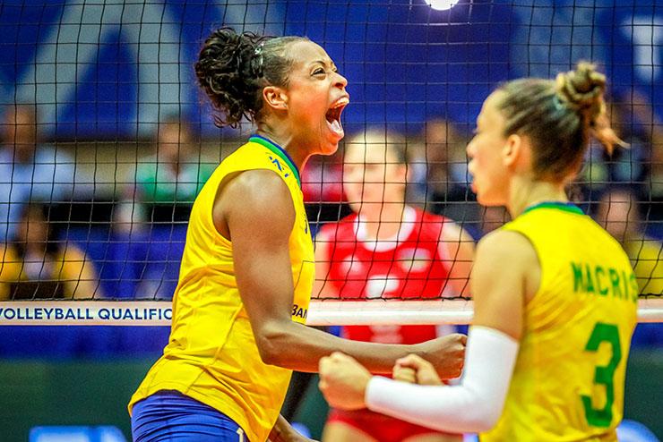 A seleção feminina do Brasil no Pan de Lima