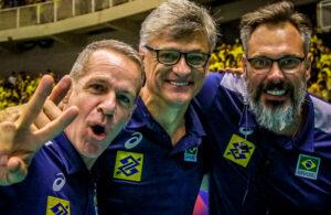 Renan Dal Zotto, Ricardo Tabach e Carlos Schwanke